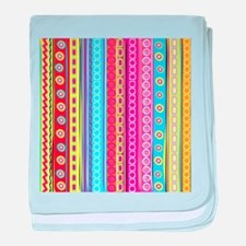 Colorful Stripes baby blanket
