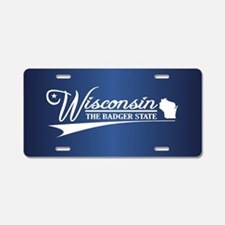 Wisconsin State of Mine Aluminum License Plate