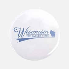 """Wisconsin State of Mine 3.5"""" Button"""