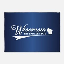 Wisconsin State of Mine 5'x7'Area Rug