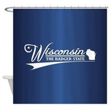 Wisconsin State of Mine Shower Curtain