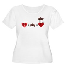 Broken Heart + Chocolate Plus Size T-Shirt