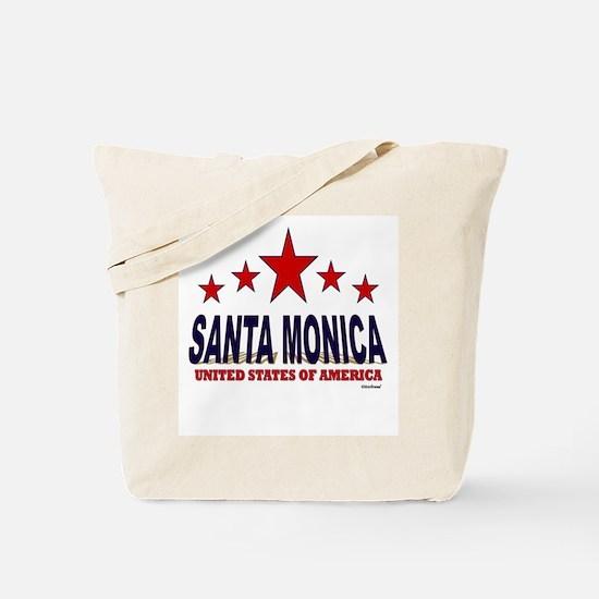 Santa Monica U.S.A. Tote Bag