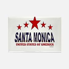 Santa Monica U.S.A. Rectangle Magnet