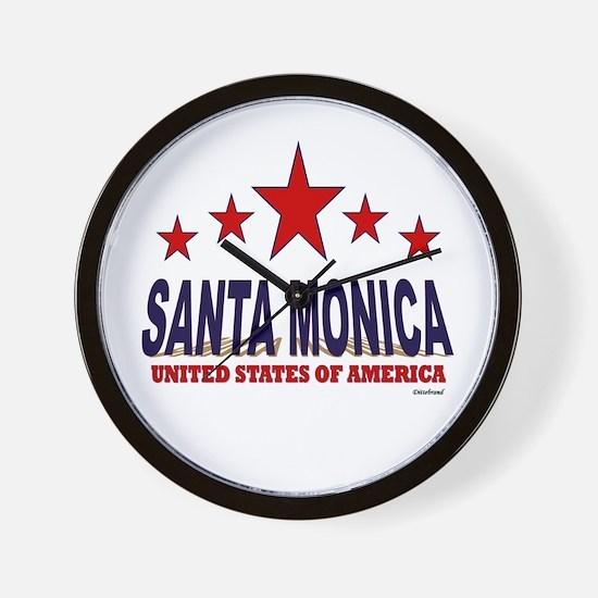 Santa Monica U.S.A. Wall Clock