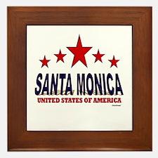 Santa Monica U.S.A. Framed Tile