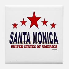 Santa Monica U.S.A. Tile Coaster
