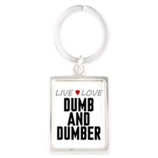 Live Love Dumb and Dumber Portrait Keychain