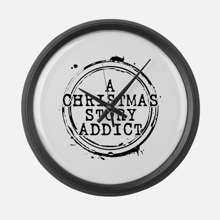A Christmas Story Addict Stamp Large Wall Clock
