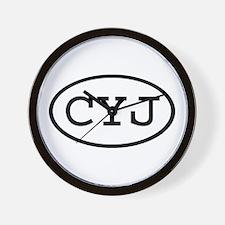 CYJ Oval Wall Clock