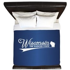 Wisconsin State of Mine King Duvet