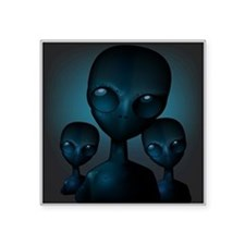 Friendly Blue Aliens Sticker