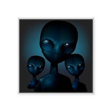 Friendly Blue Aliens Sticker