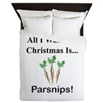 Christmas Parsnips Queen Duvet