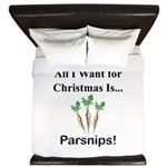 Christmas Parsnips King Duvet