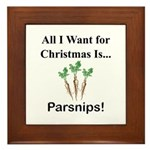 Christmas Parsnips Framed Tile