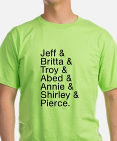 Community Characters List T-Shirt