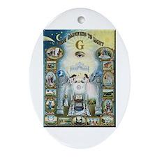 Cute Freemasonry Ornament (Oval)