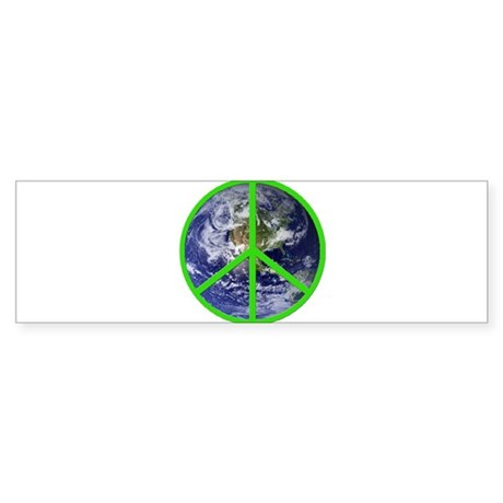 Earth Peace Symbol Bumper Sticker