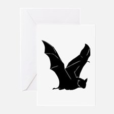 Flying Bat Silhouette Greeting Cards (Pk of 10