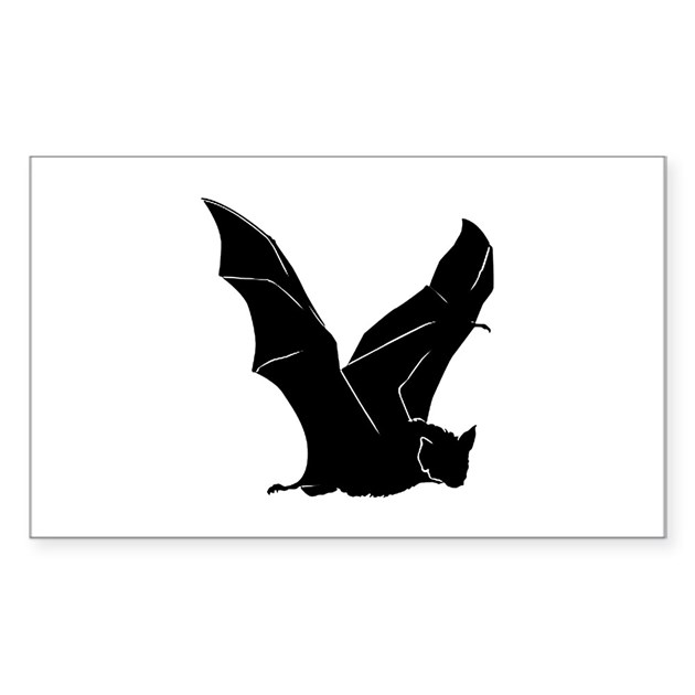 Flying bat silhouettes