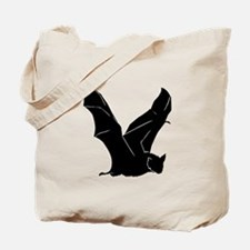Flying Bat Silhouette Tote Bag