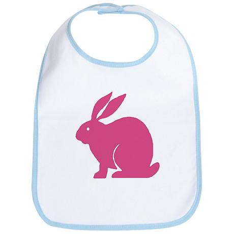 Pink Bunny Rabbit Bib