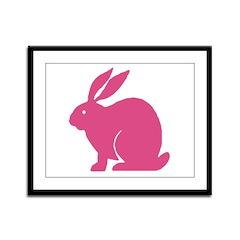 Pink Bunny Rabbit Framed Panel Print