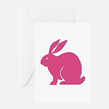 Pink Bunny Rabbit Greeting Cards (Pk of 10)