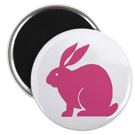 "Pink Bunny Rabbit 2.25"" Magnet (100 pack)"