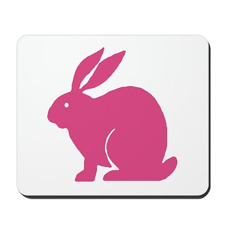 Pink Bunny Rabbit Mousepad