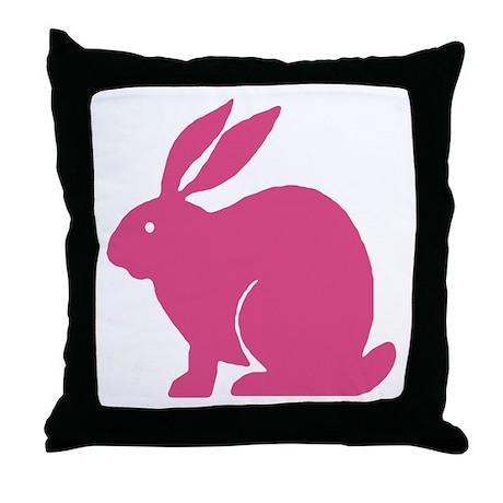 Pink Bunny Rabbit Throw Pillow