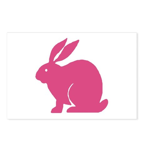 Pink Bunny Rabbit Postcards (Package of 8)