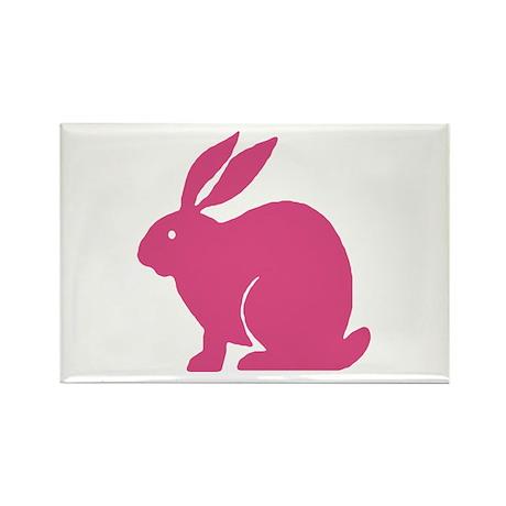 Pink Bunny Rabbit Rectangle Magnet