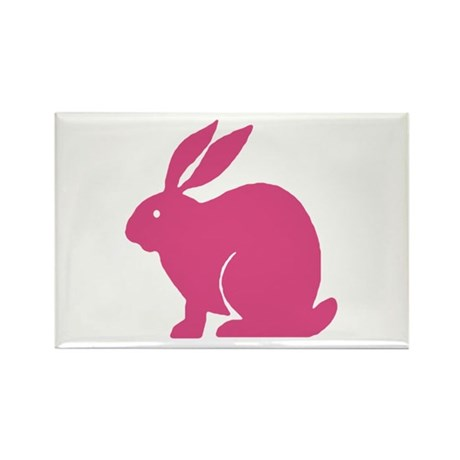 Pink Bunny Rabbit Rectangle Magnet (10 pack)