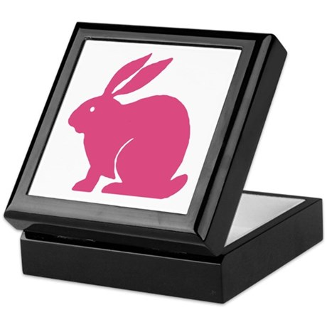 Pink Bunny Rabbit Keepsake Box