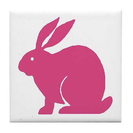 Pink Bunny Rabbit Tile Coaster
