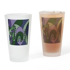 Loch Ness Monster Abstract Drinking Glass