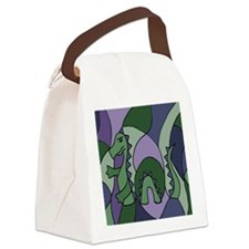Loch Ness Monster Abstract Canvas Lunch Bag