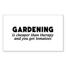 Gardening is cheaper than therapy T-shirts Decal
