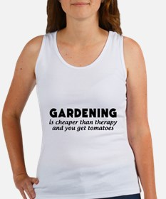 Gardening is cheaper than therapy T-shirts Tank To