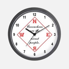 Geocachers are Nice Wall Clock