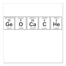 """Geocache periodic element Square Car Magnet 3"""" x 3"""
