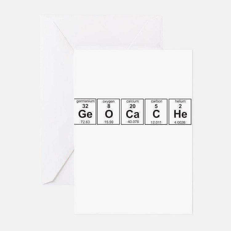 Geocache periodic element Greeting Cards