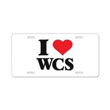 I Love West Coast Swing Aluminum License Plate