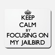 Keep Calm by focusing on My Jailbird Mousepad