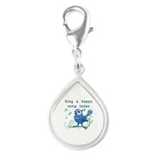 Sing A Happy Song- Silver Teardrop Charm Charms