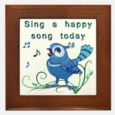 Sing a Happy Song- Framed Tile