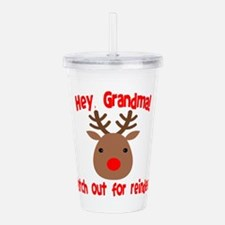 Watch Out for Reindeer Acrylic Double-wall Tumbler