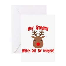 Watch Out for Reindeer Greeting Cards